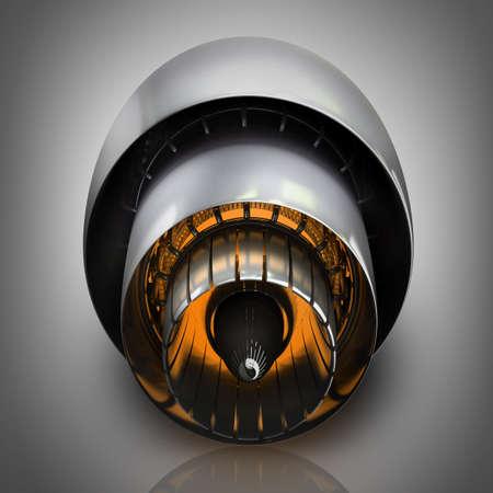 Moteur à l'intérieur du jet. Haute résolution. Images 3D Banque d'images - 22212996