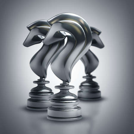high resolution: Chess black horse. High resolution 3d