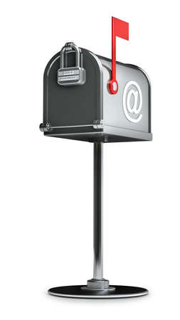 correspond: Mailbox isolated on white background High resolution 3d  Stock Photo