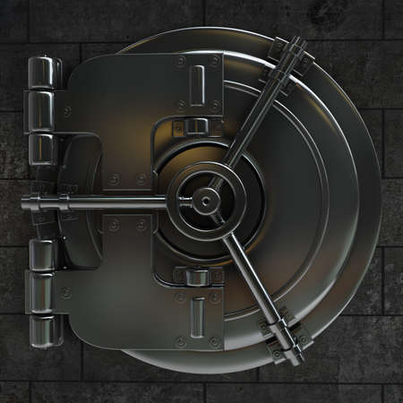 bank vault: 3d illustration of bank vault door High resolution  Stock Photo