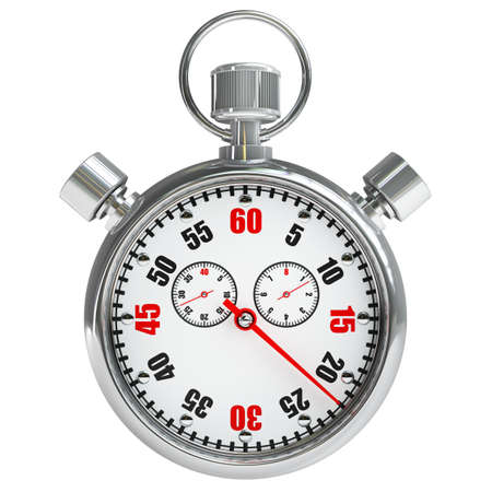 Stopwatch isolated on white background High resolution 3d  photo