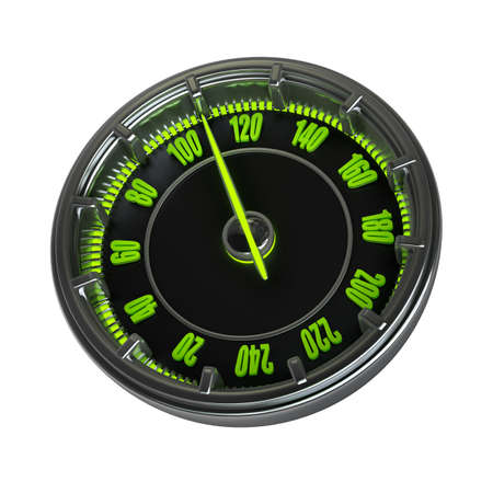 Speedometer isolated on white background High resolution 3d  photo