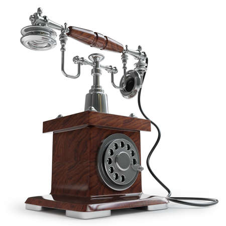 Retro Telephone isolated on white background High resolution 3d  photo