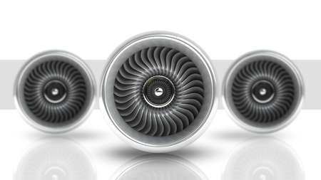 jet engine: Jet engine isolated on white background High resolution 3d