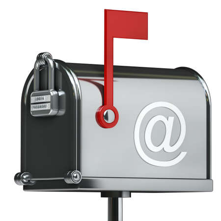 Mailbox isolated on white background High resolution 3d  photo