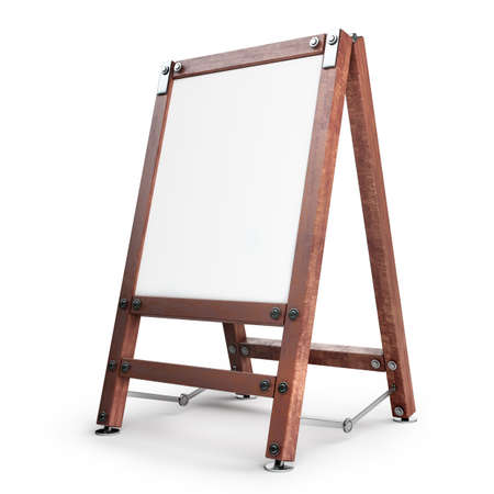 artist painting: Blank Canvas on easel isolated on white background High resolution 3d