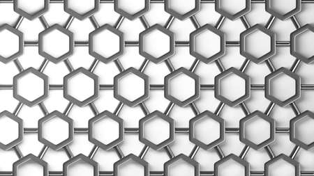 simple steel molecular structure background isolated on white background High resolution 3d  photo