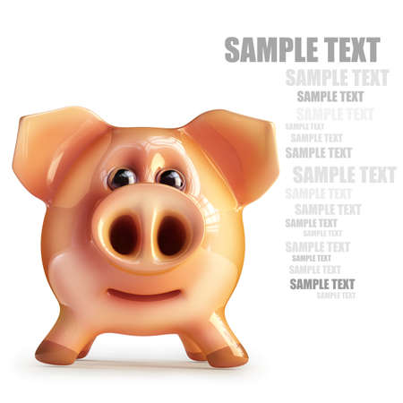 Pink piggy bank isolated on white background High resolution 3d
