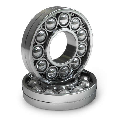 bearing isolated on white background High resolution 3d