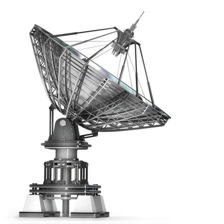 Satellite dishes antenna - Doppler radar  isolated on white background High resolution 3d  photo