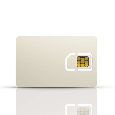 sim card: Blank sim card isolated on white background High resolution 3d