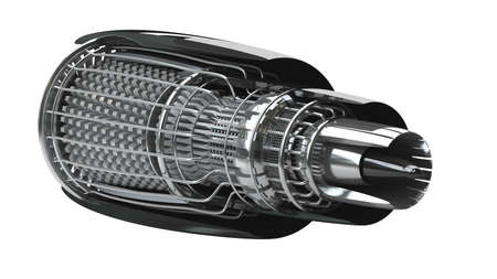 Jet engine inside isolated on white background High resolution 3d Stock Photo - 24042708