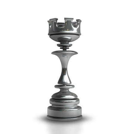 Chess black Castle isolated on white background High resolution 3d  photo