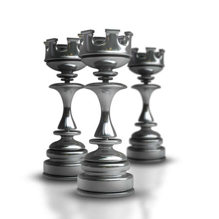 chess rook: Chess black Castle isolated on white background High resolution 3d  Stock Photo