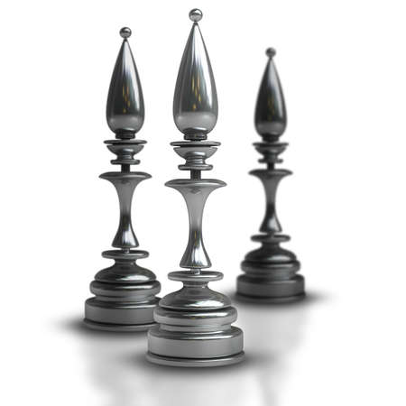 Chess black officer isolated on white background High resolution 3d  photo