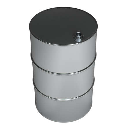black FUEL barrel  isolated on white background High resolution 3d  photo