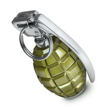 Grenade isolated on white background High resolution 3d  photo