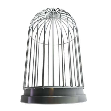 Bird cage isolated on white background High resolution 3d  photo