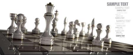 Schaken achtergrond - schaakmat geïsoleerd op witte achtergrond Hoge resolutie 3D
