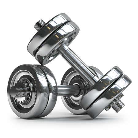 zilver halter geà ¯ soleerd op witte achtergrond Hoge resolutie 3D Stockfoto
