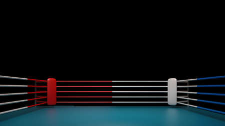 Boxing ring isolated on black background High resolution 3d render  photo