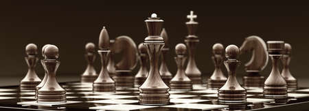 possibility: chess queen background 3d illustration. high resolution