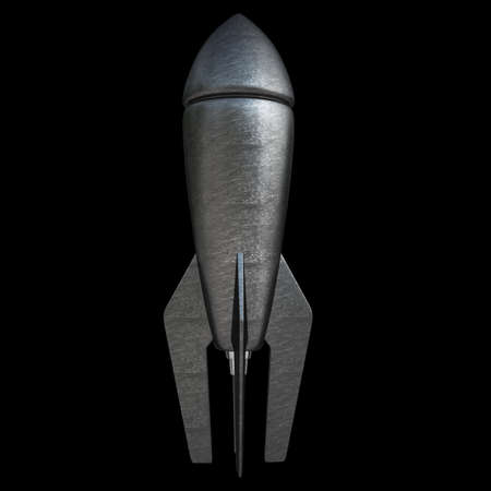 Bomb isolated on black background High resolution 3d photo