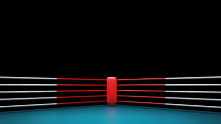 fight arena: Boxing ring isolated on black background High resolution 3d render