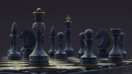 chess queen background 3d illustration. high resolution