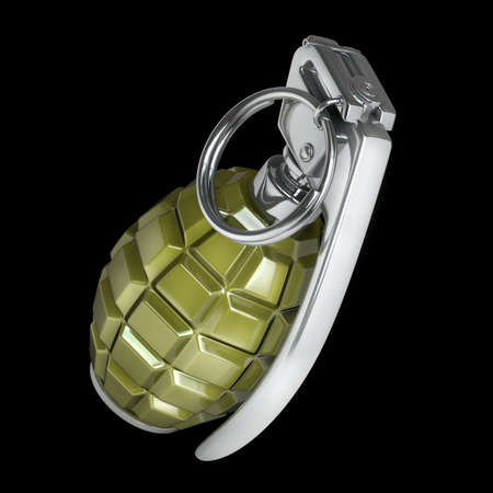 Grenade isolated on black background High resolution 3d  photo