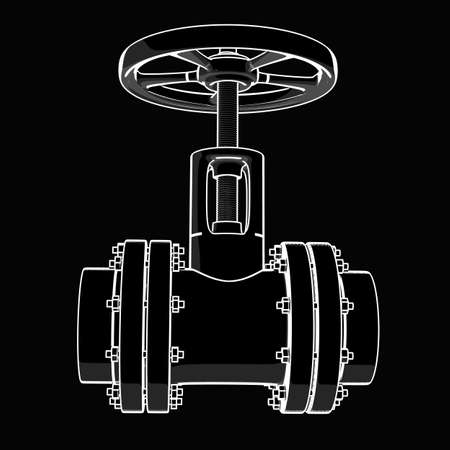 valve. black cartoon drawing illustration outline. High resolution  Stock Photo