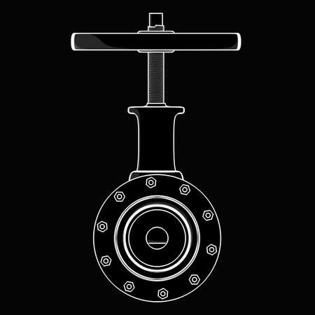 stopcock: valve. black cartoon drawing illustration outline. High resolution  Stock Photo