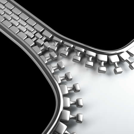 3d Zipper Isolated  background. High resolution.