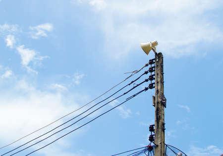 Speakers on poles photo