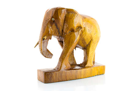 Wooden carved elephant tusk broken photo