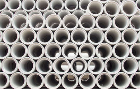 Stacked concrete pipes abstract Foto de archivo