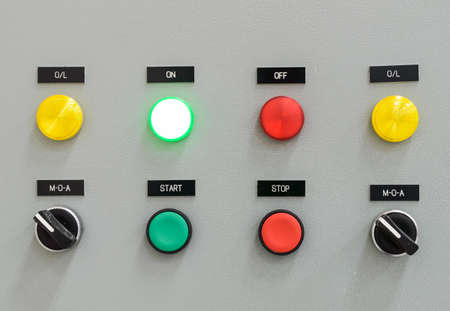 control panel lights: The fire control panel