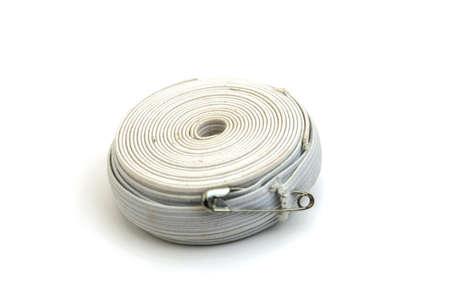 elastic band: white sewing elastic band on a white