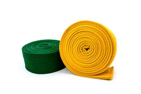 tae kwon do: Tae Kwon Do Belt on white  Stock Photo