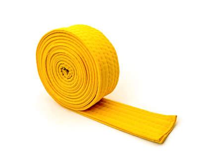 tae: Tae Kwon Do Belt on white  Stock Photo