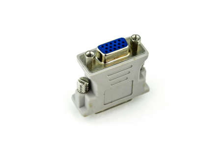 vga: VGA al convertidor de pantalla DVI en blanco
