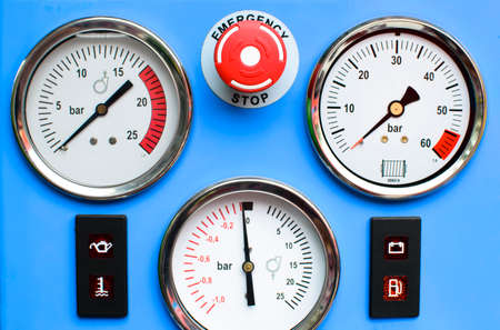 Pressure Gauges with button emergency photo