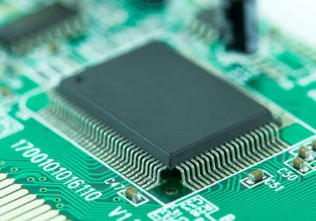 Closeup of Microchips
