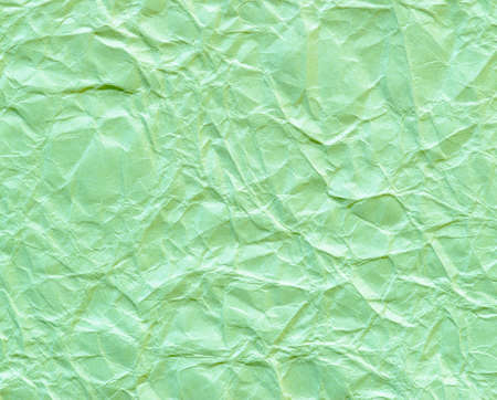 texture of wrinkled green paper for background