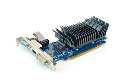 pci card: video card on white background