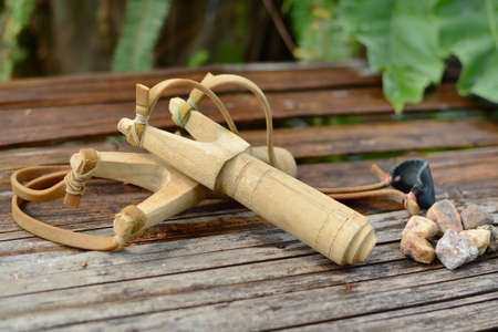 catapult: Wooden catapult slingshot