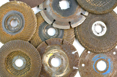 metal cutting: Used several abrasive discs for metal cutting