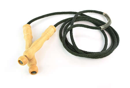 skipping rope: skipping rope for an exercise on white