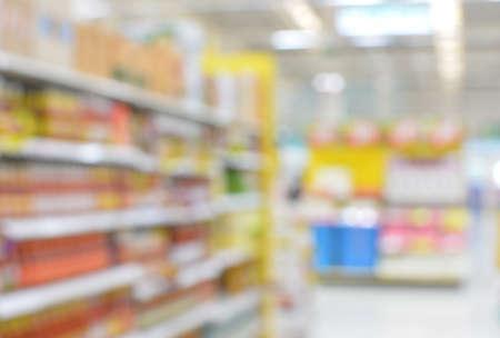 blurred supermarket