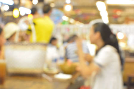 food court: Blur background the food court Stock Photo